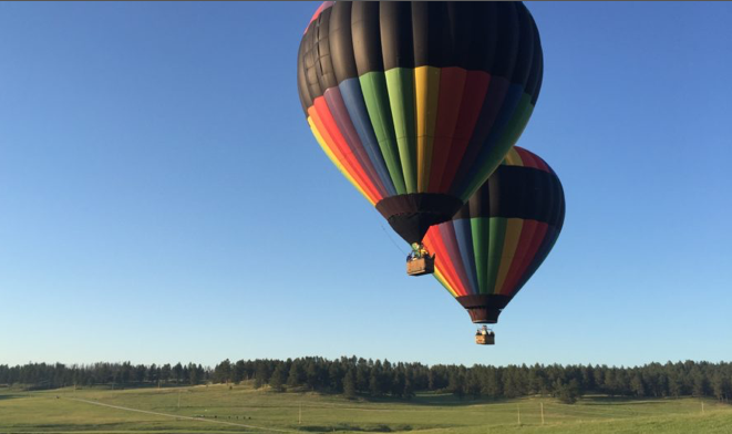 Black Hills Balloons in Custer SD is a great way to see the black hills landscape.