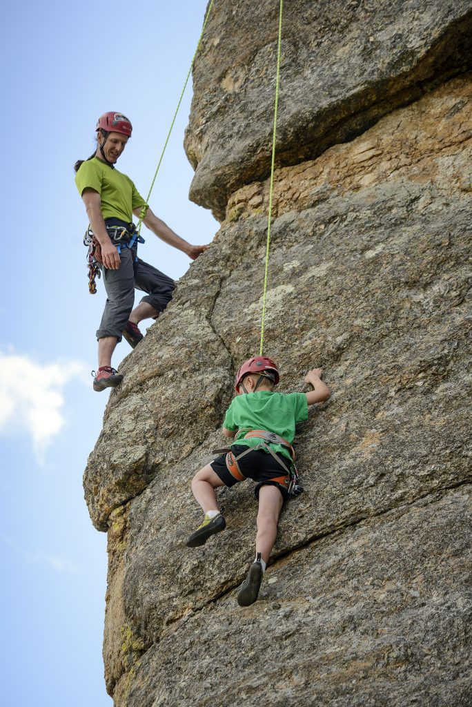 Rock Climbing in South Dakota is a great adventure activity for your Mount Rushmore visit.