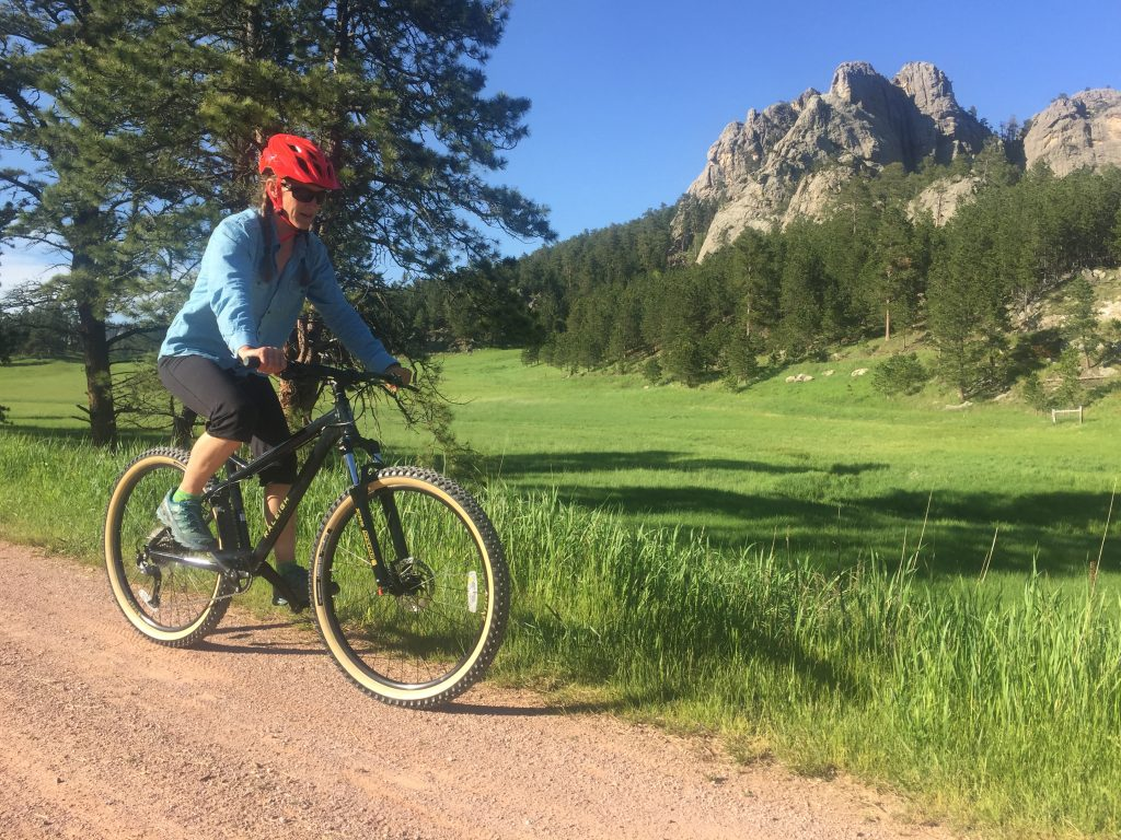 Just north of Custer the  Mickelson trail rolls past Buckhorn  Mountain.  It is a beautiful place to ride.